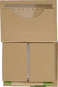 EKOORGANIZÉR Kartonová sada se značkovacími lístky, kuličkovým perem,pravítkem - reklamní bloky