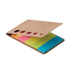 Lepící lístky v pěti barvách, béžová barva