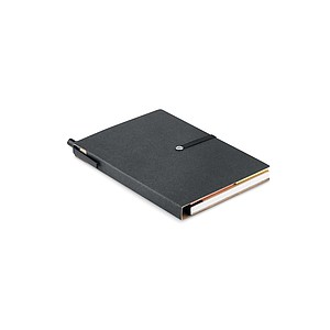 MARAL Zápisník z recyklovaného papíru, černý - reklamní bloky