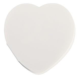 Lepící lístky ve tvaru srdce, bílé