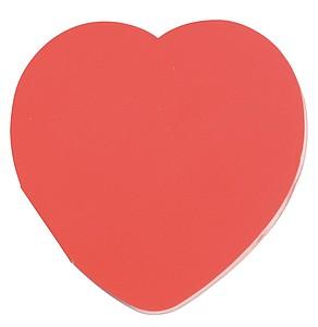Lepící lístky ve tvaru srdce, červené