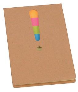 TROPA Sada lepících lístků v kartonovém obalu, středně hnědá - reklamní bloky