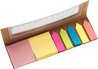 SILMONY Sada barevných značkovacích lístků v obalu s pravítkem