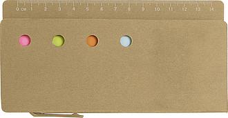 PANINA Papírová kapsa s pravítkem - reklamní bloky