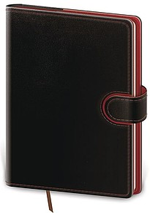 Flip 2021 diář týdenní A5, černo červený