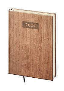 Wood 2021 diář denní A5, světle hnědý