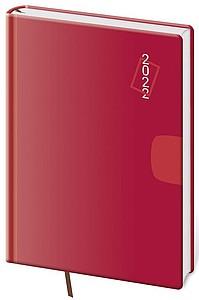 VARIO 2021 diář týdenní A5, červený