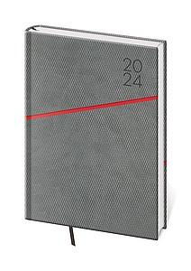 Grife 2021, týdenní diář A5, šedo červený