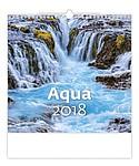 Aqua 2018, nástěnný kalendář, prodloužená záda