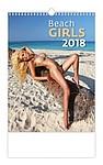 Beach Girls 2018, nástěnný kalendář, prodloužená záda
