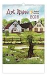 Art Naive 2018, nástěnný kalendář, prodloužená záda