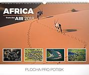 Afrika ze vzduchu2018, nástěnný kalendář, prodloužená záda