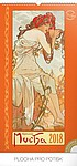 Alfons Mucha 2018, nástěnný kalendář 33x64cm, prodloužená záda