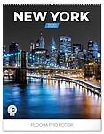 New York 2019, nástěnný kalendář, prodloužená záda