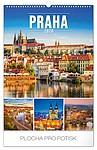 Praha 2020, nástěnný kalendář, prodloužená záda