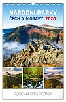 Národní parky Čech a Moravy 2020, nástěnný kalendář, prodloužená záda