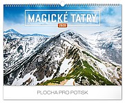 Magické Tatry 2019, nástěnný kalendář, prodloužená záda