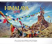 Himaláje 2019, nástěnný kalendář, prodloužená záda