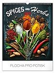 Koření a bylinky 2019, nástěnný kalendář, prodloužená záda