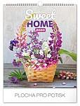 Sweet home 2019, nástěnný kalendář, prodloužená záda