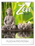 Zen 2019, nástěnný kalendář, prodloužená záda