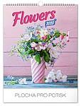 Květiny 2019, nástěnný kalendář, prodloužená záda