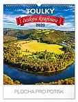 Toulky českou krajinou 2019, nástěnný kalendář, prodloužená záda