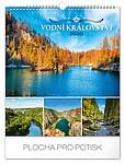 Vodní království 2019, nástěnný kalendář, prodloužená záda
