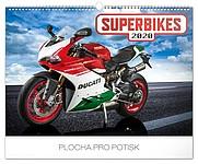 Superbikes 2019, nástěnný kalendář, prodloužená záda