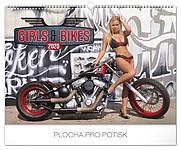 Girls and Bikes 2019, nástěnný kalendář, prodloužená záda