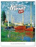 Claude Monet 2019, nástěnný kalendář, prodloužená záda