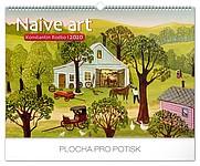 Naivní umění - Konstantin Rodko 2019, nástěnný kalendář, prodloužená záda