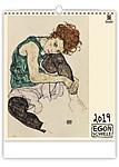 Egon Schiele 2019, nástěnný kalendář, prodloužená záda
