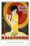 Retro plakáty 2020, nástěnný kalendář, prodloužená záda