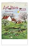 Art naive 2019, nástěnný kalendář, prodloužená záda