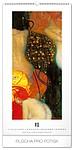 Gustav Klimt 2019, nástěnný kalendář, prodloužená záda