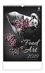 Food Art 2019, nástěnný kalendář, prodloužená záda