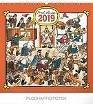 Josef Lada - Hostinec 2019, nástěnný kalendář, prodloužená záda