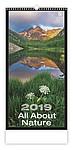 All About Nature 2019, nástěnný kalendář, prodloužená záda