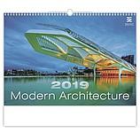 Modern Architecture 2019, nástěnný kalendář, prodloužená záda