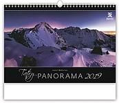 Tatry Panorama 2019, nástěnný kalendář, prodloužená záda