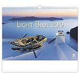 Light Blue 2019, nástěnný kalendář, prodloužená záda