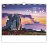Mysteries 2019, nástěnný kalendář, prodloužená záda