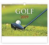 Golf 2019, nástěnný kalendář, prodloužená záda