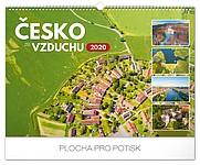 ČESKO ZE VZDUCHU 2020, nástěnný kalendář, prodloužená záda