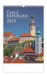 Česká republika 2019, nástěnný kalendář, prodloužená záda