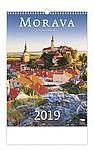 Morava 2019, nástěnný kalendář, prodloužená záda