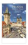 Praha 2019, nástěnný kalendář, prodloužená záda