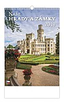 Naše hrady a zámky 2019, nástěnný kalendář, prodloužená záda
