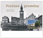 Pražské proměny 2019, nástěnný kalendář, prodloužená záda